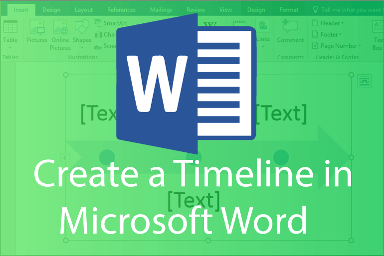 timeline for microsoft word