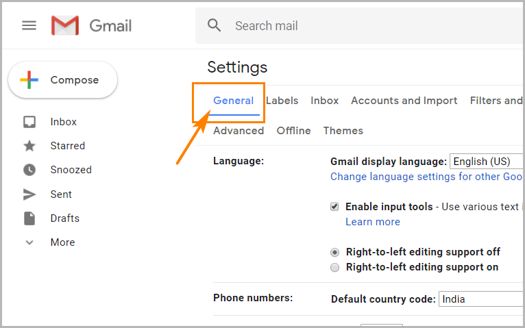 Gmail desktop notifications go to the general tab